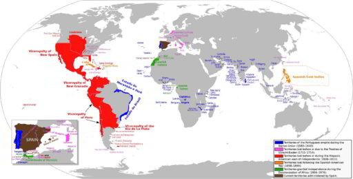 mapa imperio español