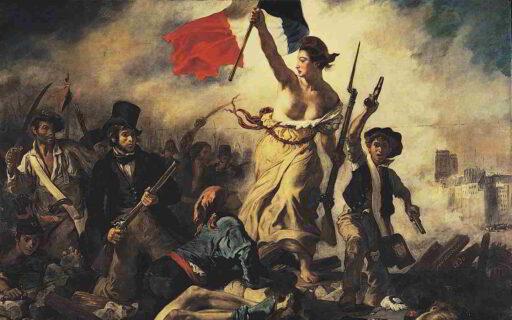 revolcion francesa libertad guiando al pueblo