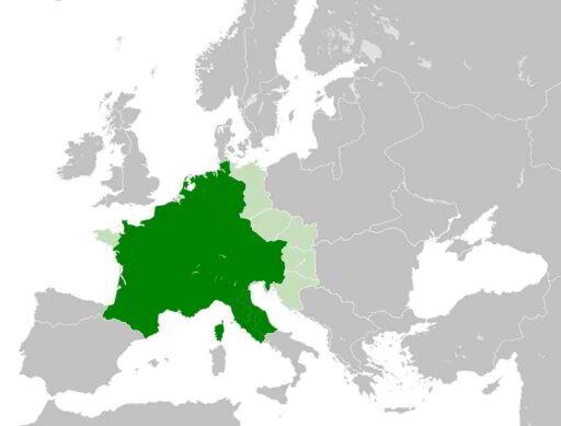 imperio carolingio carlomagno mapa
