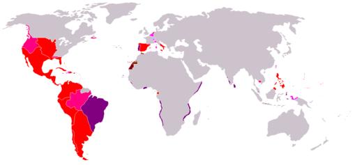 Máxima extensión del Imperio Español