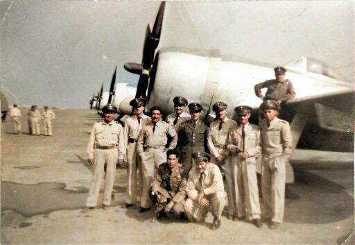 Pilotos del Escuadrón Aéreo de Pelea 201
