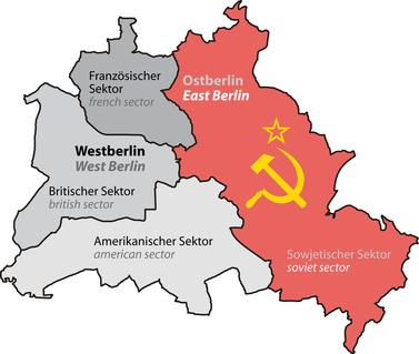 mapa de Berlín durante la Guerra Fría