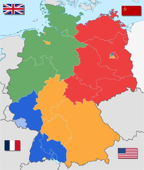 particion de alemana al final de la segunda guerra mundial